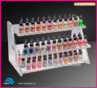 2013 New Design Acrylic Nail Polish Organizer or Acrylic Divided Cosmetic Organizer