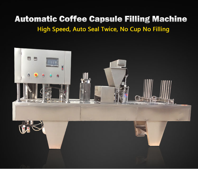Automatic Capsule Coffee Filling Sealing Machines In Shanghai coffee filling machine commercial