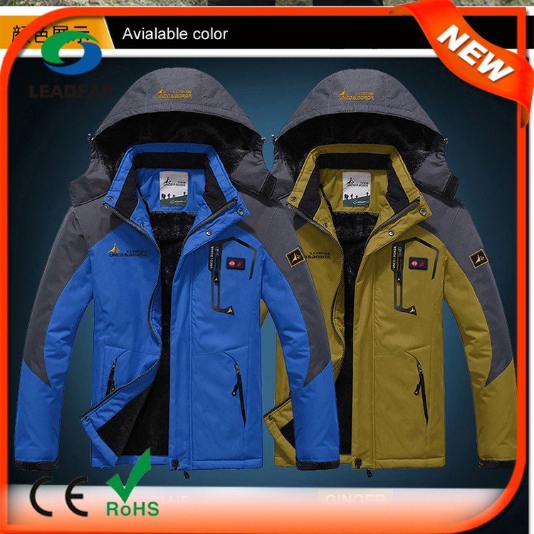 Women Fur Coat Waterproof Men Windproof Heated Couple Jackets