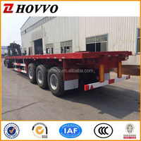3 Axles 20 ft 40ft 60 ton Truck Flatbed Container Semi-trailer