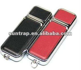 4GB 8GB top leather usb flash pendrives usb sticks for promotional gifts