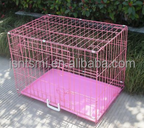 pets cage for dog with plastic tray