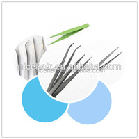 Populor eyelashes extention tool false eyelashes tweezers good quality
