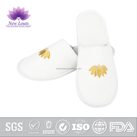 220gms Waffle hotel slippers with customized logo
