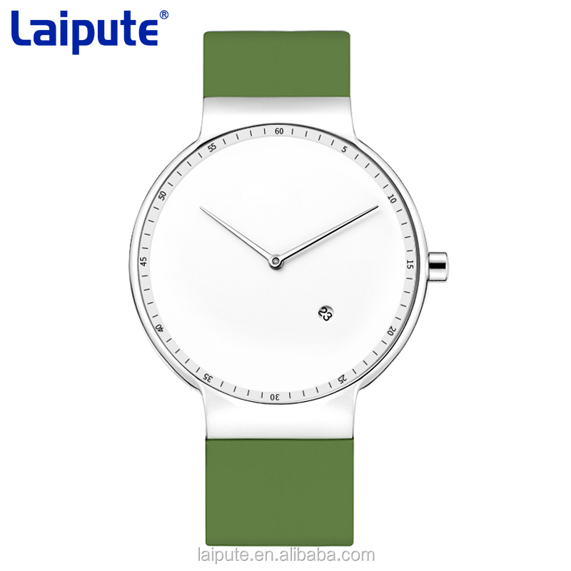 2018 North Europe Minimalist Slim Stainless Steel Wrist Watch interchangeable silicon strap watch 3ATM