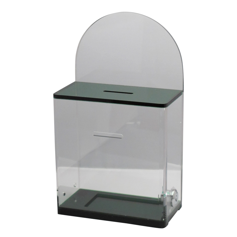 Wholesale Acrylic Charity Collection Box Custom Acrylic Donation Box with Lock