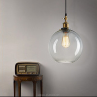 1930s Glass Bottle Vintage Pendant Light