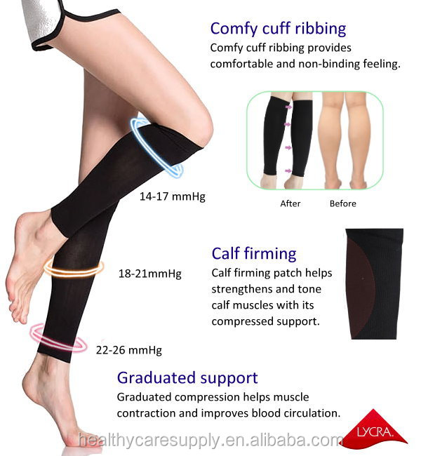 Compression Calf Sleeves for pain relieving, swelling, varicose veins