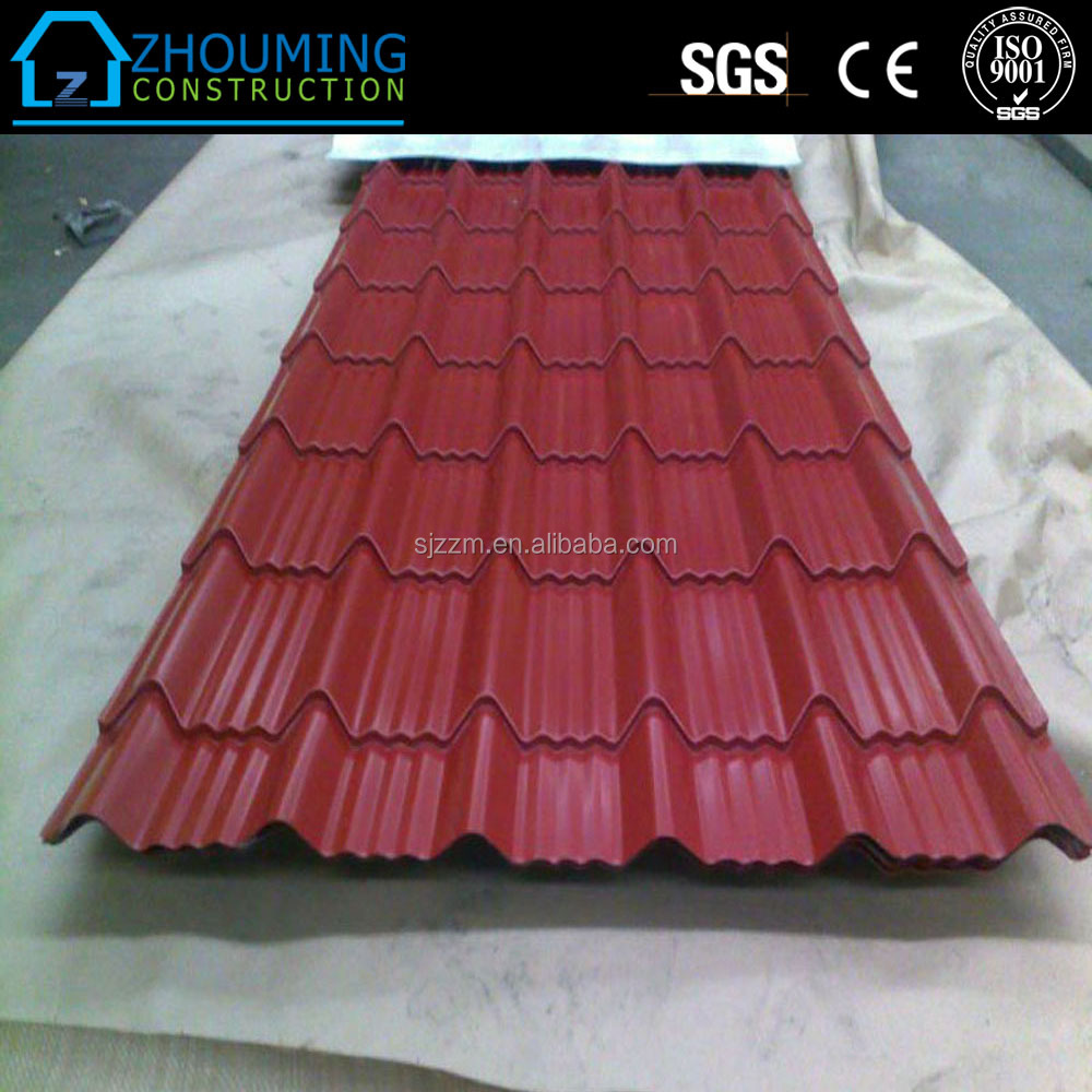 Hot sale color coated metal roof tiles for garages