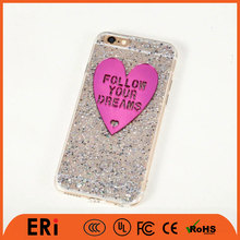 Factory price beautiful bling protect cover dustproof pc/tpu mobile cell phone case for apple iphone series