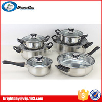 Hot sales cheap price 12pcs stainless steel cookware set