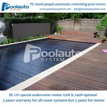 automatic polycarbonate plastic swimming pool cover slats factory