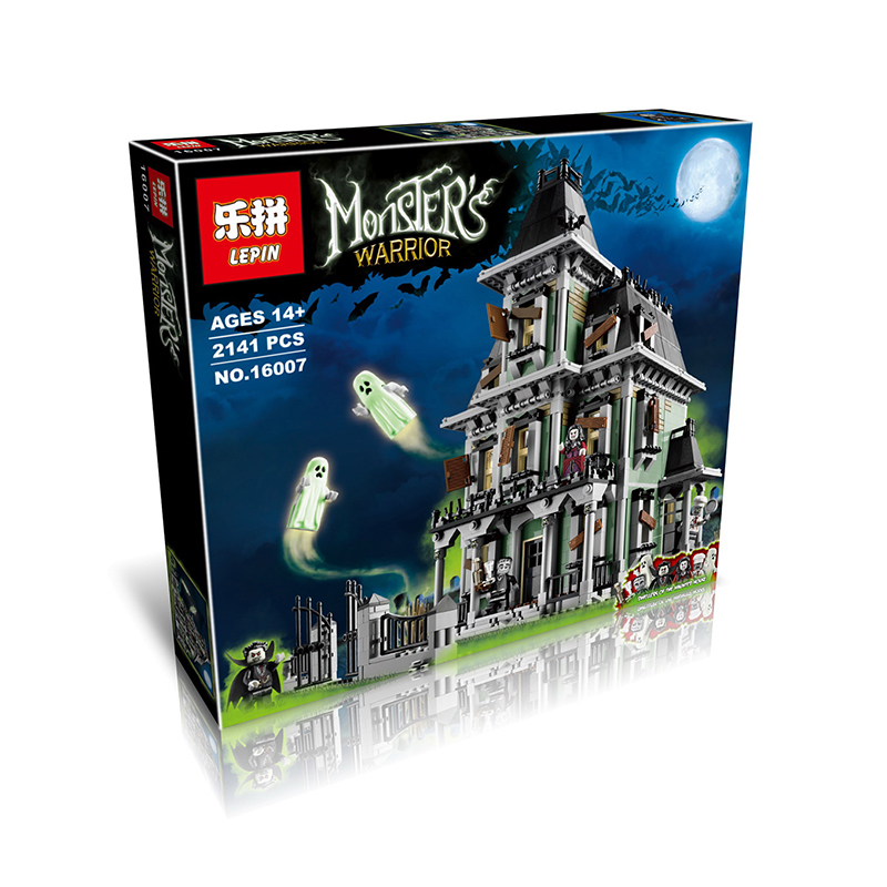 New LEPIN 16007 2141Pcs City Monster Fighter Haunted House Model Building Kit Minifigure Blocks Brick Compatible Toys 10228
