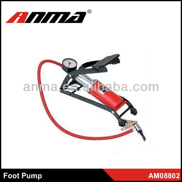 New style high pressure bicycle foot operated pumps