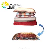 Customized plastic quilts store bag vacuum packing bag