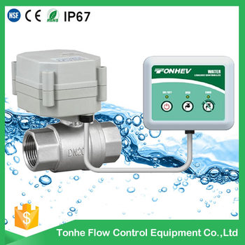 NSF hot sale brass valve electric automatic water shut off valve for water leak control