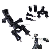 GoPro accessories Bike Motorcycle Handlebar Seatpost Pole Mount & 3 Way Adjustable Pivot Arm for Go pro Hero2 3 3+ xiaomi yi
