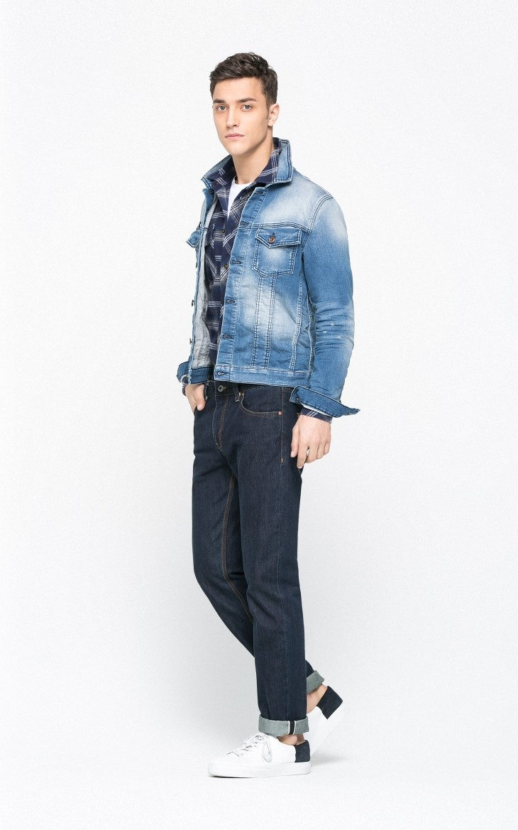 Men's latest Casual Fashion Denim Jeans shirts thin jacket
