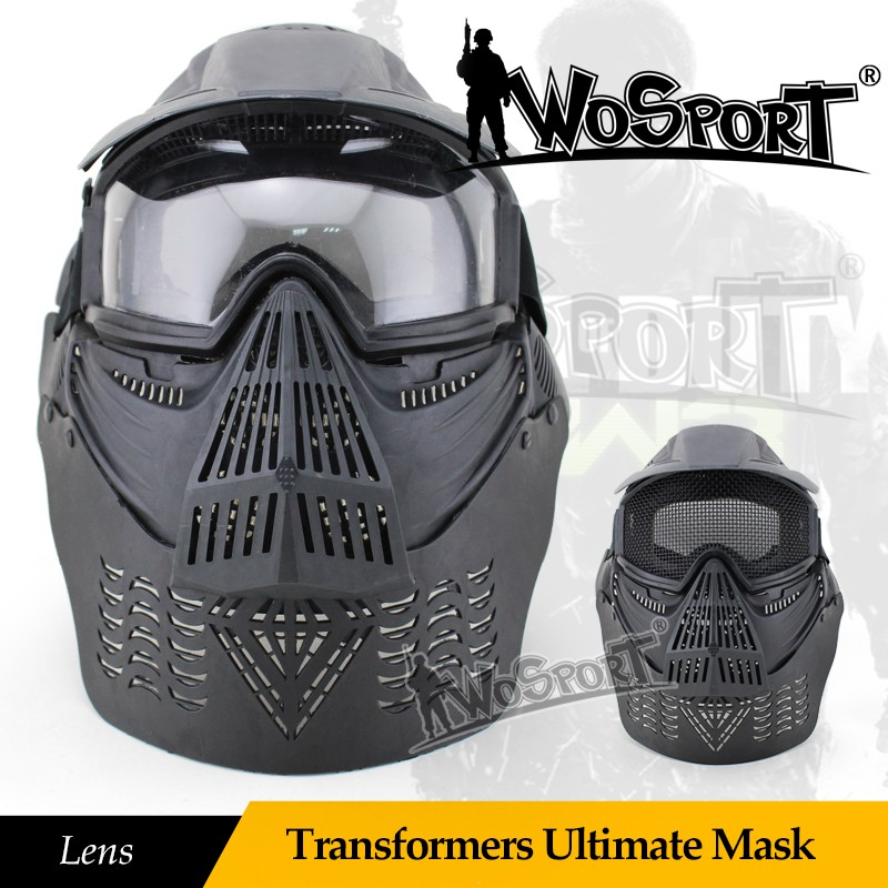 WoSporT Transformers Ultimate Mask (Lens) Live CS necessary to protect the neck wire visor full face protection mas