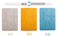 In stock, 3 folding sleeping leahher stand flip cover case for ipad and mini all models