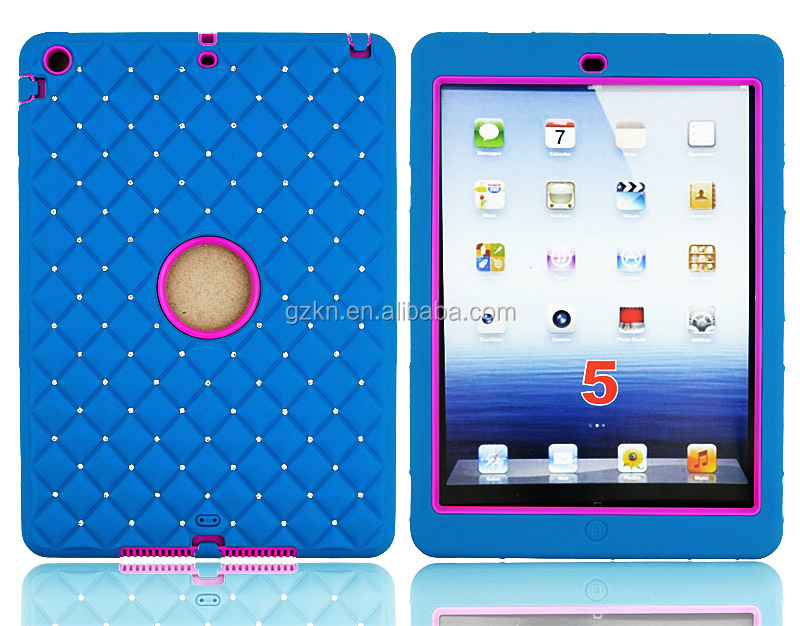 Heavy duty and defender case with rhinestone for iPad air 5th