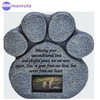Pet Memorial Stone -- Features a Photo Frame and Sympathy Poem Dog or Cat For Garden Marker Grave Tombstone