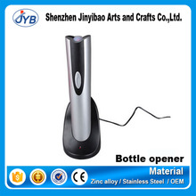 Silver Cordless rechargeable electric Wine Bottle Opener China fancy auto