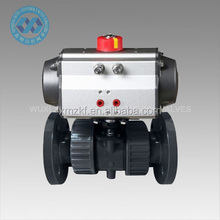 PVC/WCB/SS Flange Type Pneumatic Ball Valve with accessories