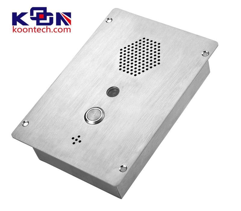 best price KNZD-37 Robust heavy gauge stainless steel flush mount or surface mount panel handsfree speakerphone