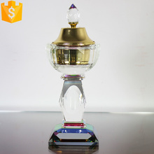 oman frankincense crystal glass car incense burner