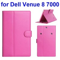 360 Degree Rotatable Protective Flip Leather Case for Dell Venue 8 7000 with Armband