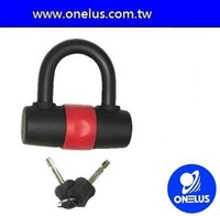 for bicycle and motorcycle use carbon steel shackle u lock