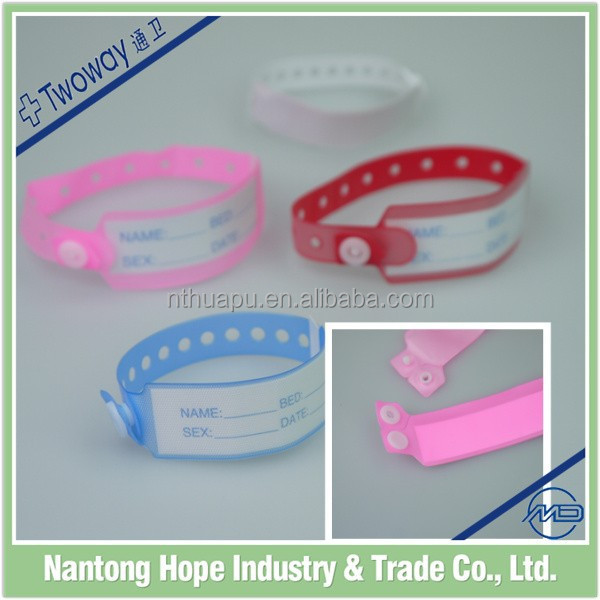 Disposable Medical Vinyl Identification Bracelets for hospital