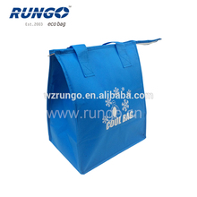 Blue PP non woven insulated cooler bag