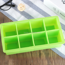 Factory Wholesale Silicone Ice Cube Tray Mold Small Cubes Shape 8 Cube Grids