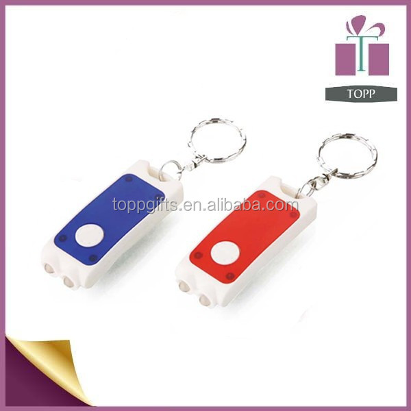 Promotional LED Key Chain Light Custom Personalized Key Ring Led Light