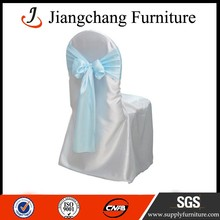 Decorative Wedding Used Tie Satin Chair Cover JC-YT198