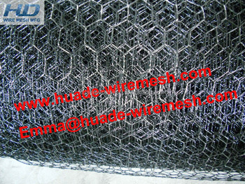 black vinyl coated galvanized poultry wire netting
