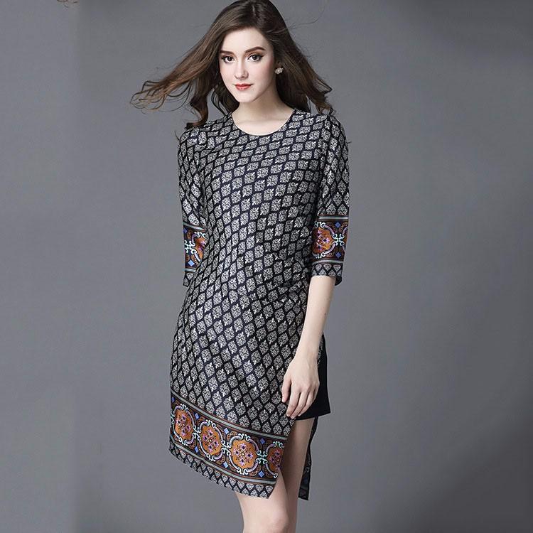 100% Silk Half Sleeve Irregular Formal Skirts Designs For Women ...