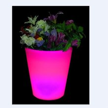 led lgiht up flower pot,led planter pot furniture