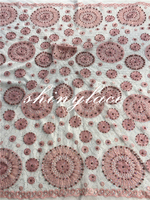 Latest fabric bridal lace/nigeria tulle laces/embroidery beaded lace motif