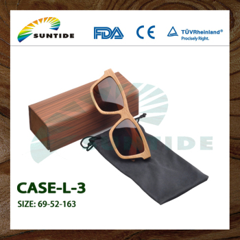 Wood color glasses case optical eyewear frame case (L01)