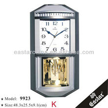 Pendulum old wall clock hourly chime islam clock