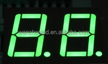 0.8 Inches Pure Green Dual-digits Seven Segment Display/ Dual Digits LED Digital Display/ 16 Segment