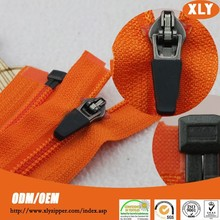 Strong nylon teeth no.5 coil zipper with rubber zipper pull hot sale