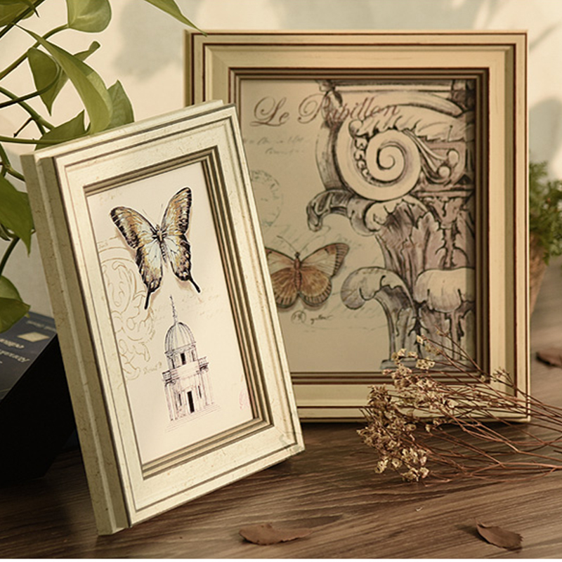 Classical wooden PS multi wall hanging Photo Frame Wall Decoration
