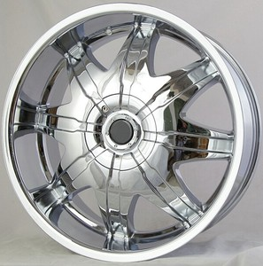 chrome car alloy wheels for suv car, 6x139.7 deep dish wheel rims