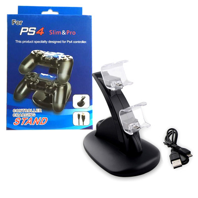 USB Dual Gamepad Charger Controller Game Controller Power Supply Charging Station Stand For  Playstation 4 PS4