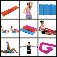 body exercisers/resistance silicone thin rubber velcro elastic bands crossfit