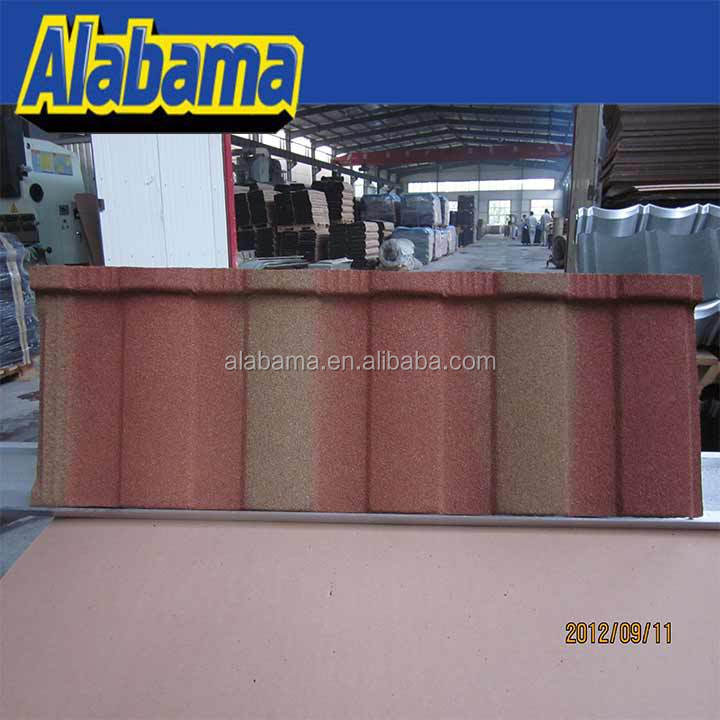 Coating Evenness colorful sand coated steel roof, waviness stone coated roof tile, translucent roof tile